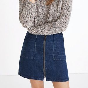 Madewell Denim Utility Zip Skirt